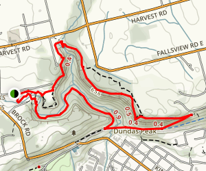 Spencer Creek Gorge and the Old Dundas Station Loop Map