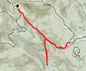 Middle Falls and Lower Falls Trail Map