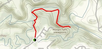 Hoopii Falls Trail Map