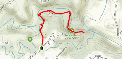 Hoopii Falls Trail [PRIVATE PROPERTY] Map