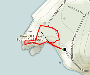Whytecliff Trail Map
