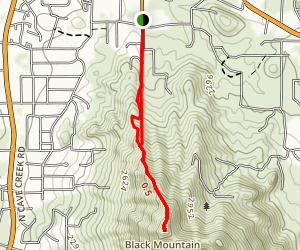 Black Mountain Trail Map