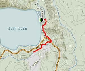 Newberry Crater Trail to East Lake Hot Springs Map