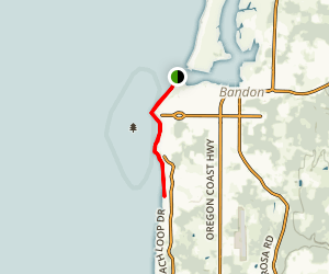 Bandon Oregon Coast Walk Map