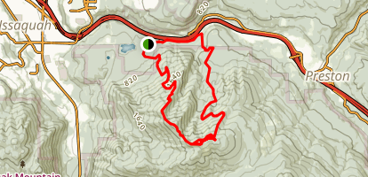 Three Summits Loop Trail Map