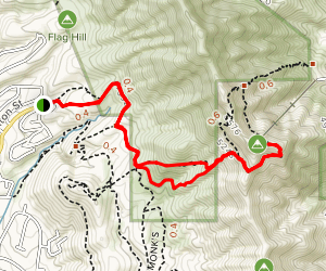 Thousand Steps Trail Map
