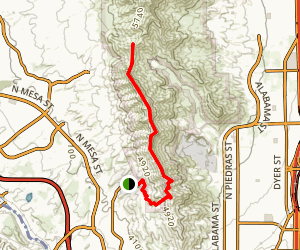 Franklin Mountains Ridgeline Hike Map