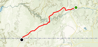 Bluff Scenic Byway: Bluff to Monument Valley Map