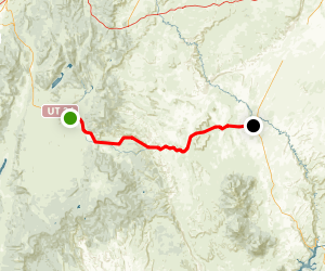 Utah Highway 24 Scenic Byway: Loa to Hanksville Map