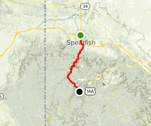 Spearfish Canyon Highway Map