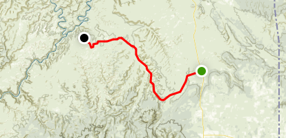 Indian Creek Scenic Byway: Monticello to Needles District, Canyonlands Map