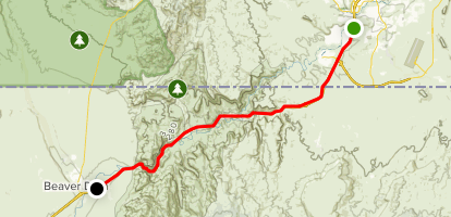 Virgin River Gorge Scenic Drive Map