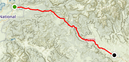 Wyoming Centennial Scenic Byway (North): Moran Junction to Dubois Map