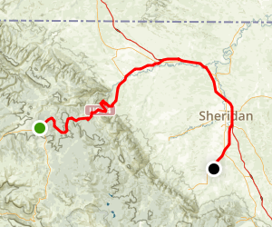 Medicine Wheel Passage Scenic Byway: Burgess Junction to Big Horn Lake Map