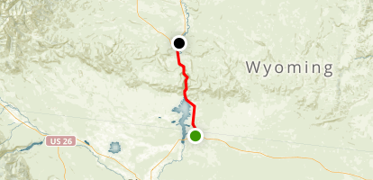 Wind River Canyon: Shoshoni to Thermopolis Map