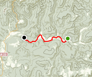 Mulberry River: High Bank to Redding NF campground Map