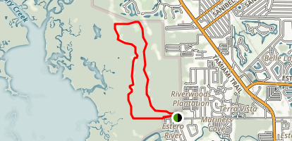 Estero River Scrub Preserve Loop Map