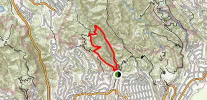Temescal Canyon Trail Map