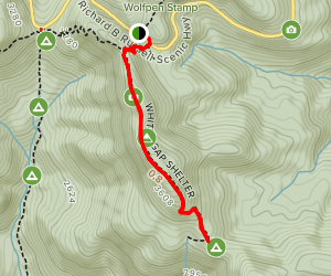 Whitley Gap Shelter Trail Map