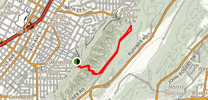 Ruffner Mountain: Buckeye Trail Map