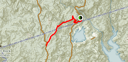 Foothills Trail A8 - A9 Map