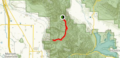 Lewis Peak Via South Skyline Trail Map