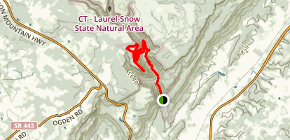 CT Snow Falls Trail Map