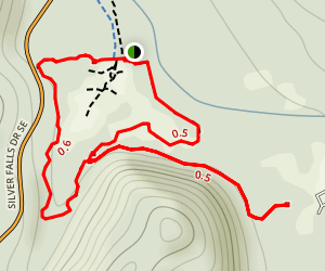 South Silver Falls Map