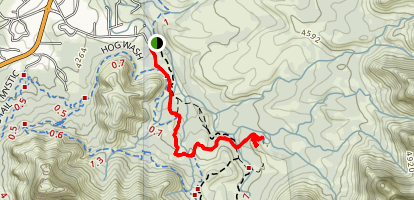 Submarine Rock And Devils Living Room Trail Map