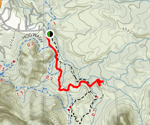 Submarine Rock and Devil's Living Room Trail Map
