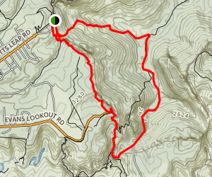 Rodriguez Pass and Cliff Top Track Loop Map