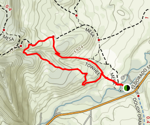 Towhee and Homestead Trails Map