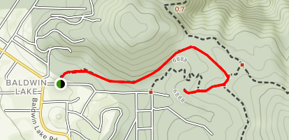 Eye of God Trail from Burns Canyon Road Map