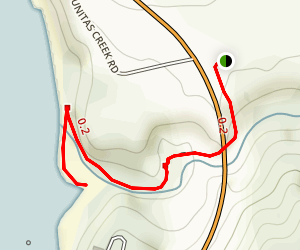 Tunitas Creek Beach Trail Map