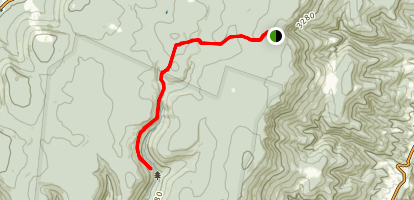 Blackbird Knob Trail to Red Creek Trail Map