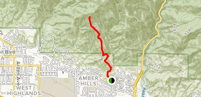 McKinley Firebreak Trail Map