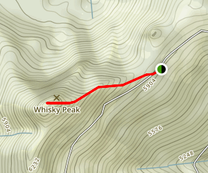Whiskey Peak Trail Map