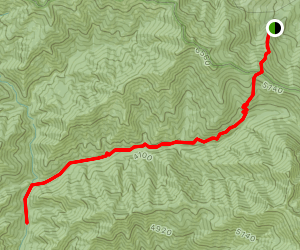 Grizzly Creek to Pfeifer Flat Map