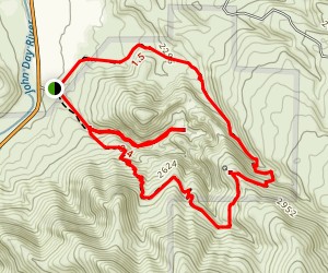 Blue Basin Overlook Trail Map