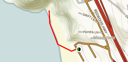Moonstone Beach Map