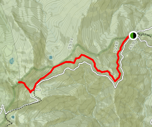 Red Buttes via PCT Map
