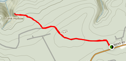 Tank Hollow Trail Map