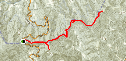 Appalachian Trail: Carvers Gap to Little Hump Mountain and Bradley Gap Map