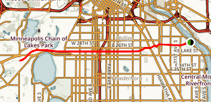 Cities Greenway Trail Map
