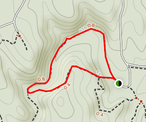 Pickle Creek Loop to Whispering Pines Trail Map