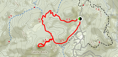 Castle Rock Loop Trail Map