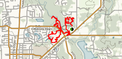 Reagan/Huffman Trails Map