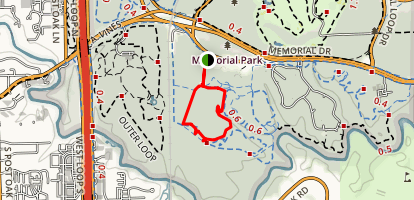 Memorial Park Yellow Trail Map