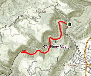 Piney River Trail Map