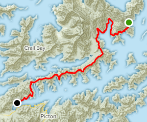 Queen Charlotte Track Map